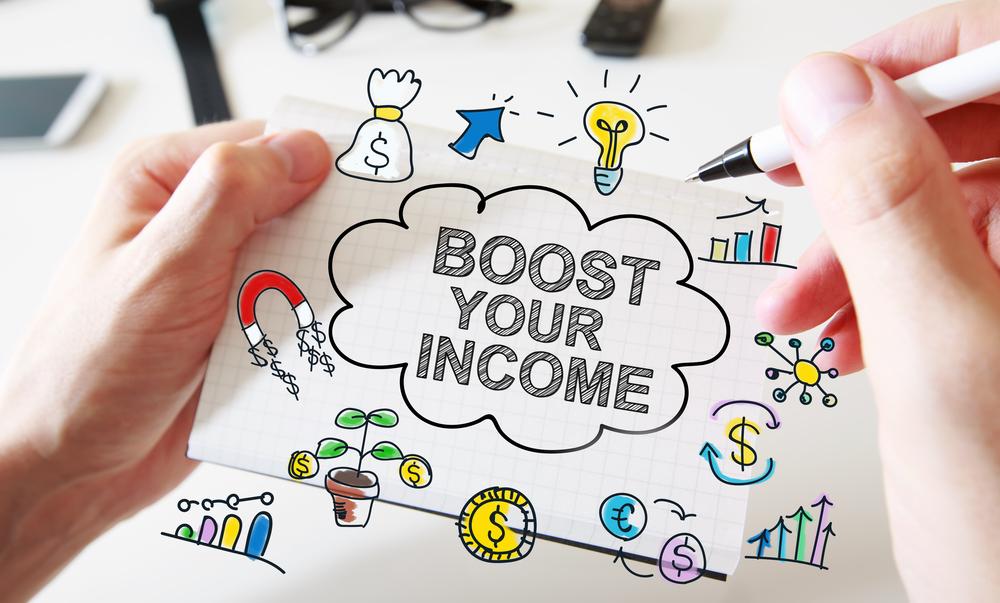 """Steigerung von Umsatz, Konzeptpapier """"Boost your income"""""""